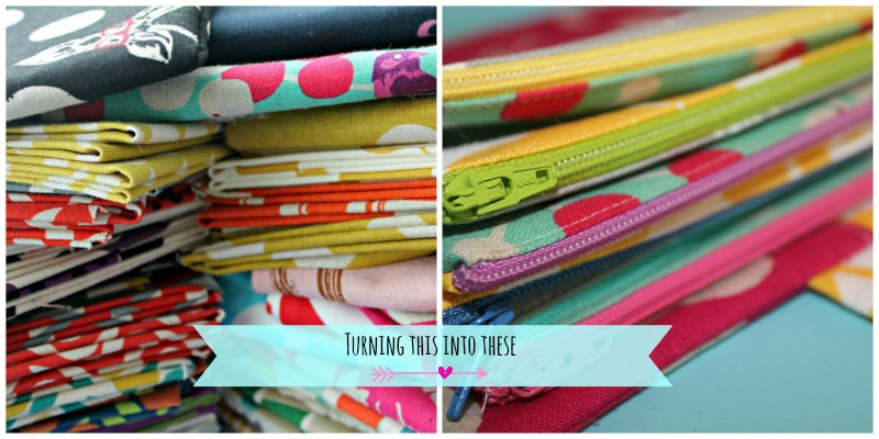 Zipper Fabric Stack Collage